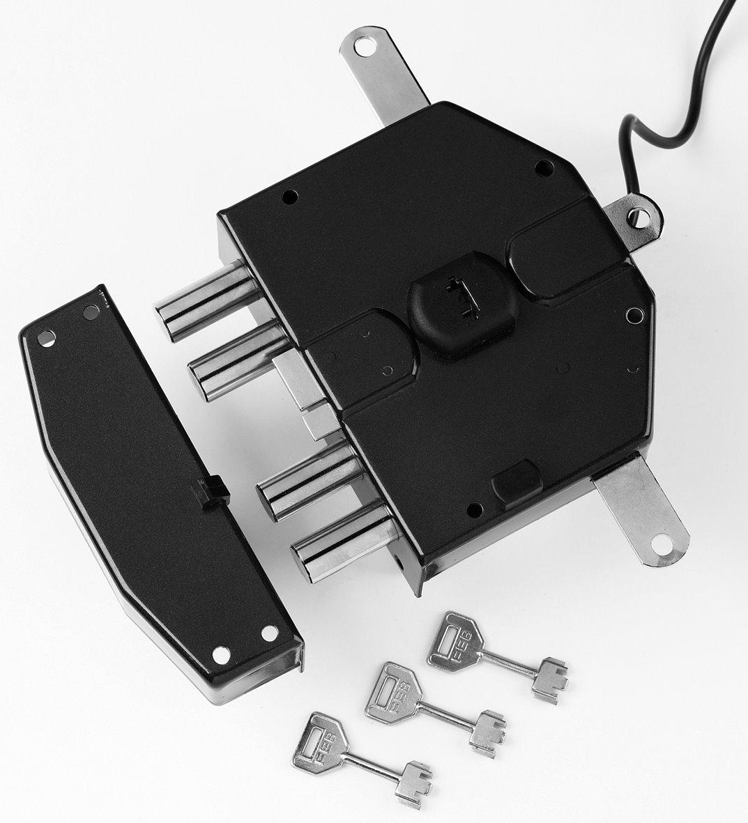 6825 - Security electric rim lock, 5 locking points