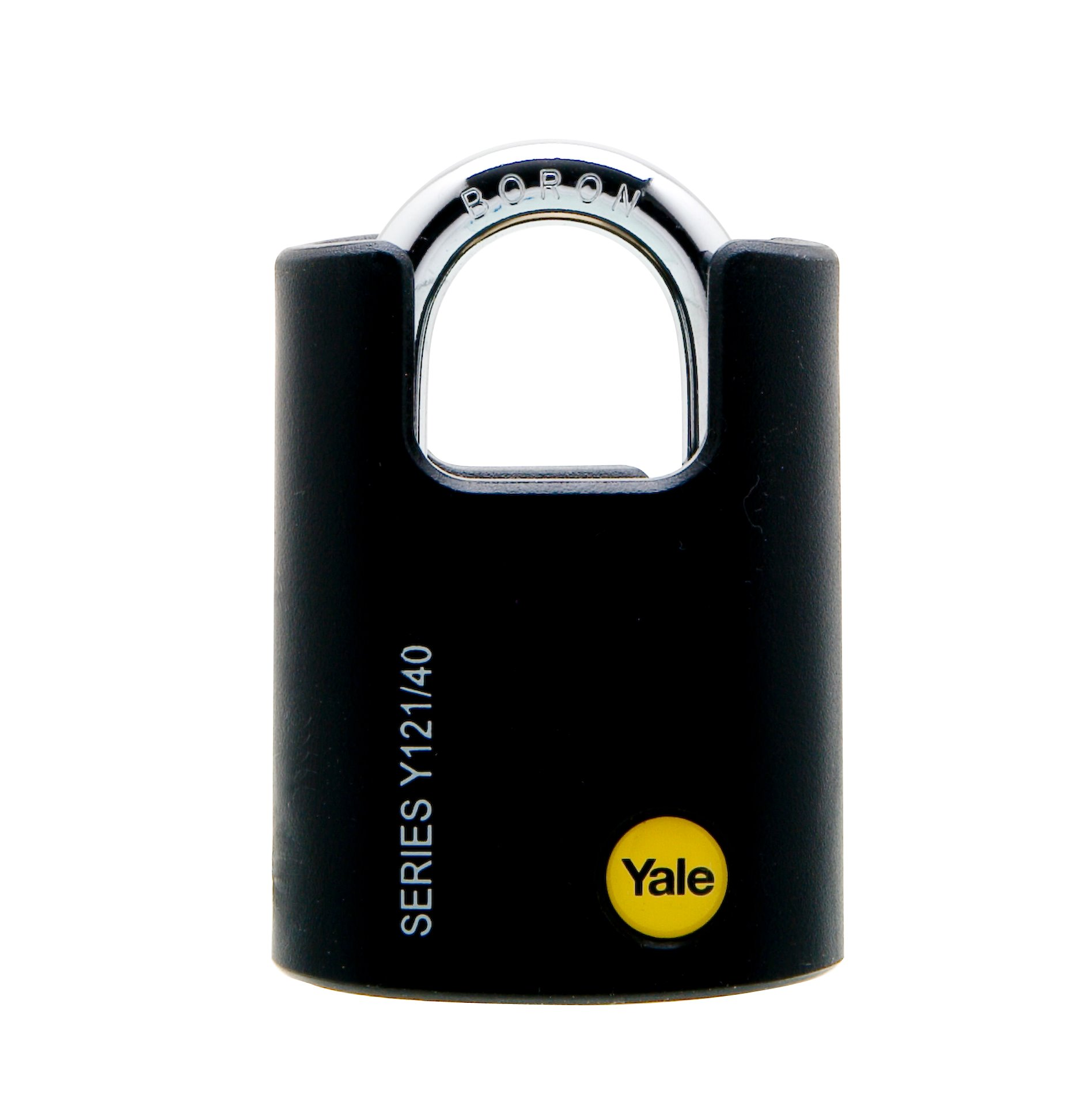 Y121 - Brass Padlock with Black Jacket