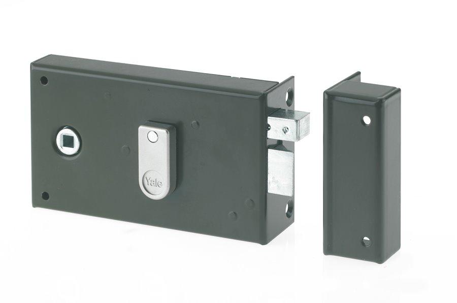 pour Grille et Portail Version gauche 2 Cl/és Yale YAV37G Serrure en applique verticale /à fouillot
