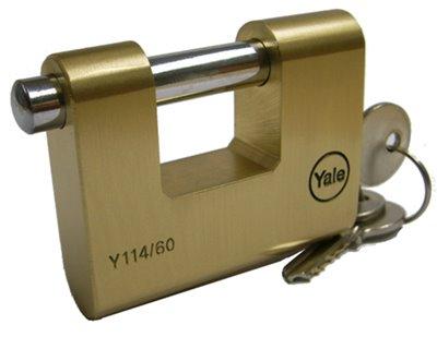 Y114 - Brass Shutter Padlocks