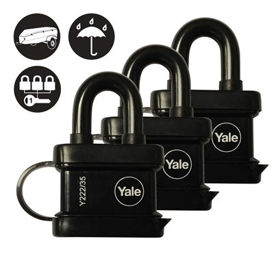35mm Trailer Padlock (Trio Pack)