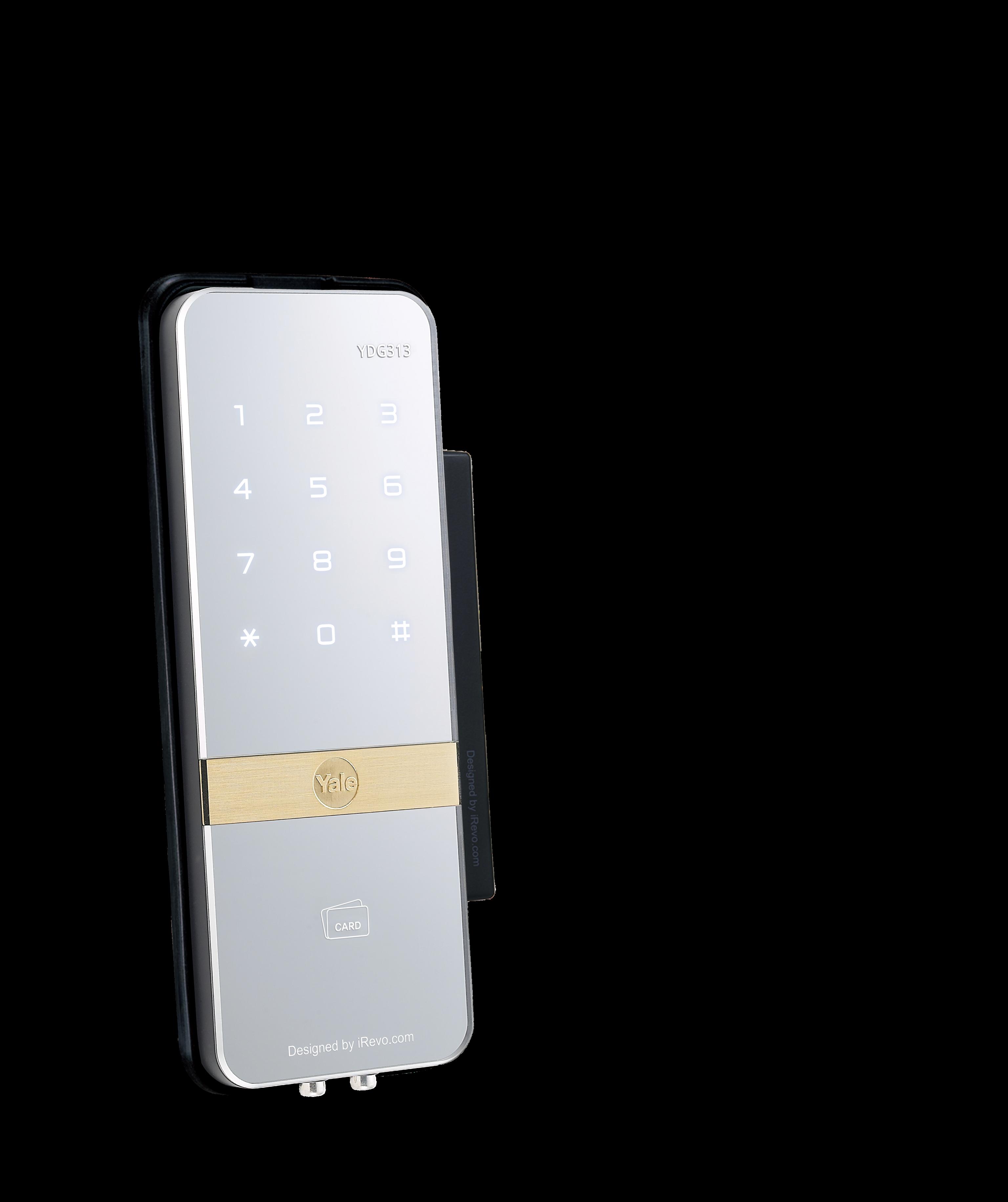 Yale Kartlı ve Şifreli Dijital Dıştan Takma Kilit - Cam Kapılar İçin