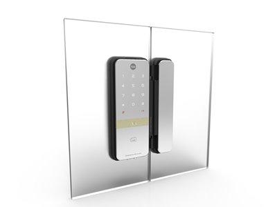Kartlı ve Şifreli Dijital Dıştan Takma Kilit - Cam Kapılar için