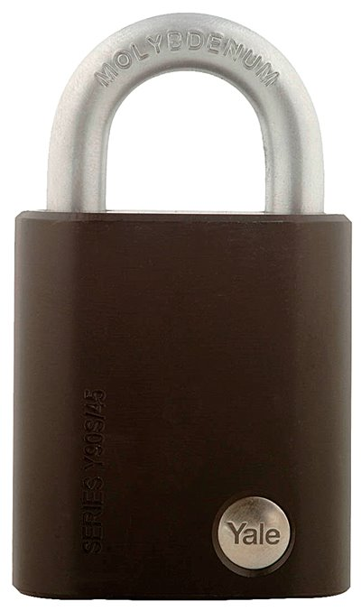 Y90S/45/129 - Yale Black Series Hardened Steel Padlock (Molybdenum Shackle) 48mm