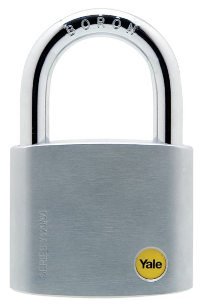 Y120/60/135 - Yale Silver Series Outdoor Brass / Satin Padlock (Boron Shackle) 60mm