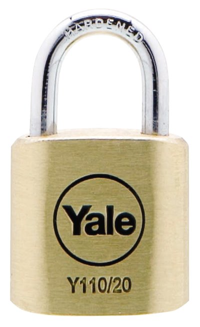 Y110/20/111 - Yale Classic Series Outdoor Solid Brass Padlock 20mm with Multi-pack