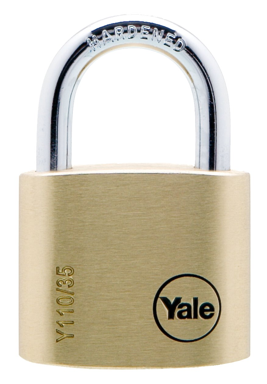 Y110/35/121 - Yale Classic Series Outdoor Solid Brass Padlock 35mm with Multi-pack