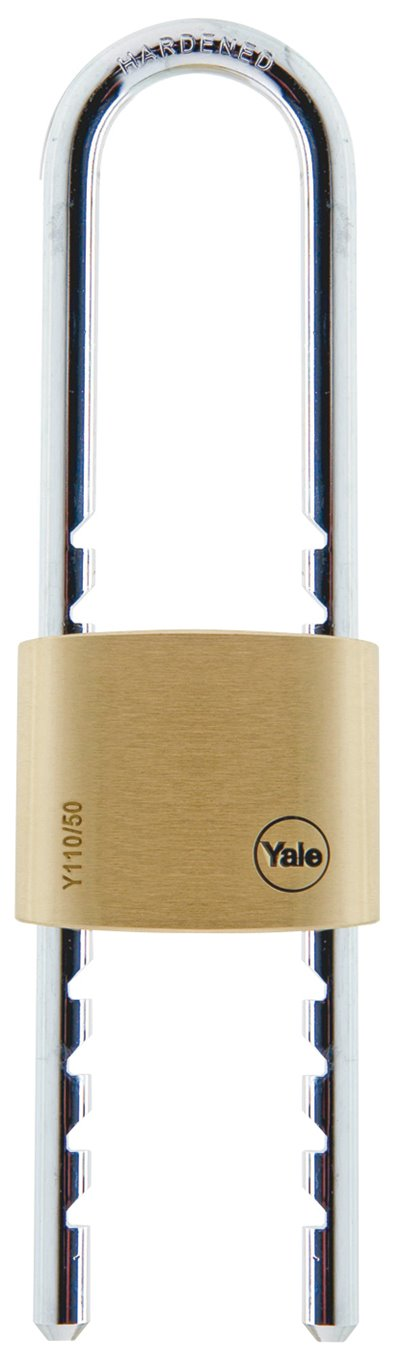 Y110/50/155 - Yale Classic Series Outdoor Solid Brass Adjustable Shackle Padlock 50mm