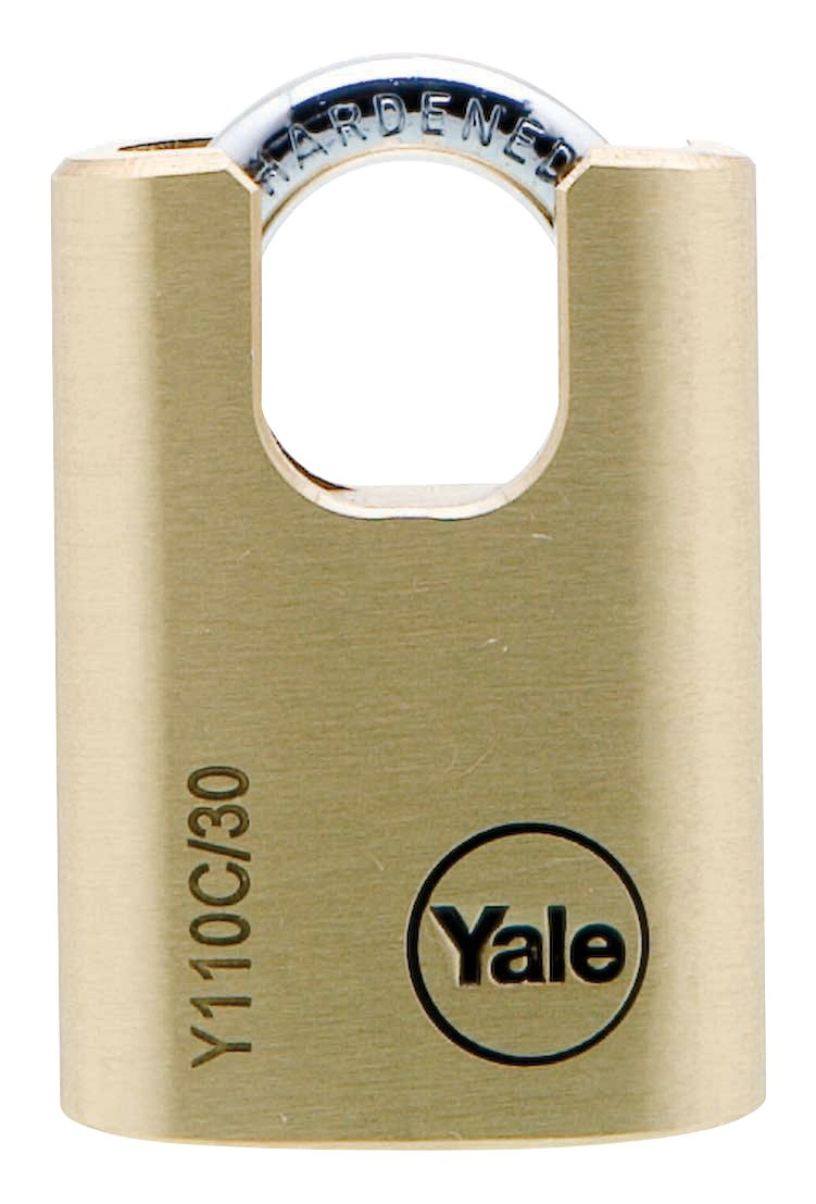 Y110C/30/115 - Yale Classic Series Outdoor Solid Brass Closed Shackle Padlock 30mm