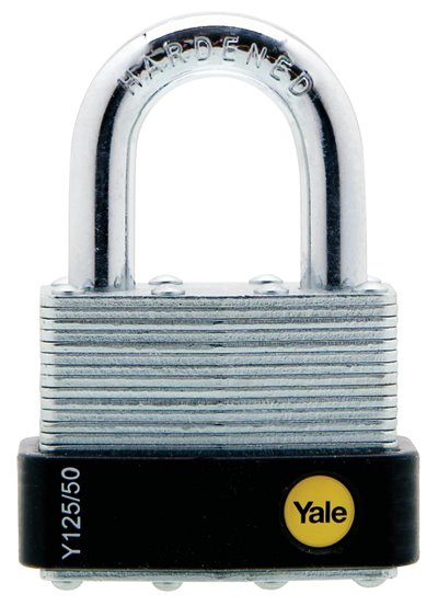Y125/50/129 - Yale Classic Series Outdoor Laminated Steel Padlock 50mm