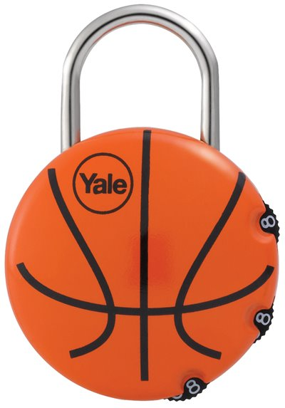 Y-BASKETBALL - Yale Novelty Lock Range Basketball Luggage 3 digit Combination Lock