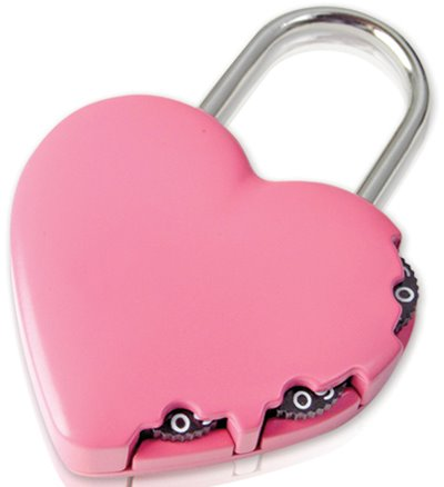 Y-HEART - Yale Novelty Lock Range Heart Luggage 3 digit Combination Lock