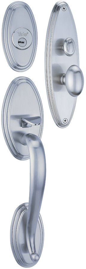 M8733 BC - Yale M8700 series Classic Style Entrance Door Handle Set 3