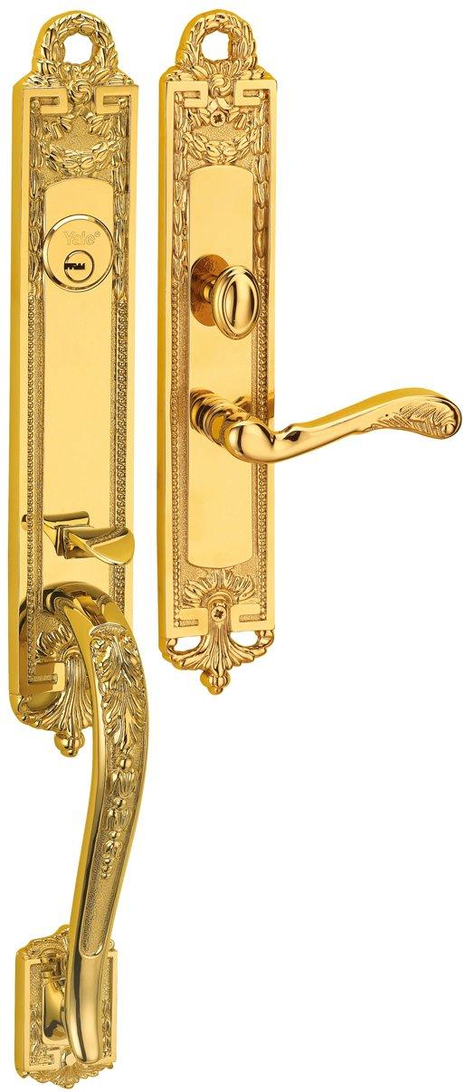 M8773 H1 - Yale M8700 series Classic Style Entrance Door Handle Set 5
