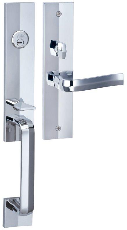 M8773 F7 - Yale M8700 series Elegance Style Entrance Door Handle Set F7