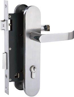 Yale Stainless Steel Door Lever Handle on Escutcheon (Handle T)