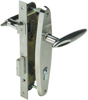 Yale Stainless Steel Door Lever Handle on Escutcheon (Handle U)