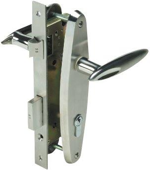 Yale Stainless Steel Door Lever Handle on Escutcheon (Handle U)