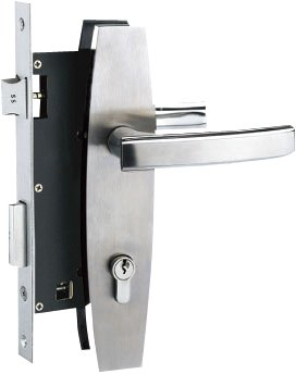 Yale Stainless Steel Door Lever Handle on Escutcheon (Handle V)