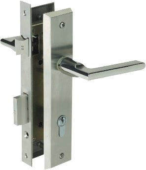 Stainless Steel Lever Handles on Rose