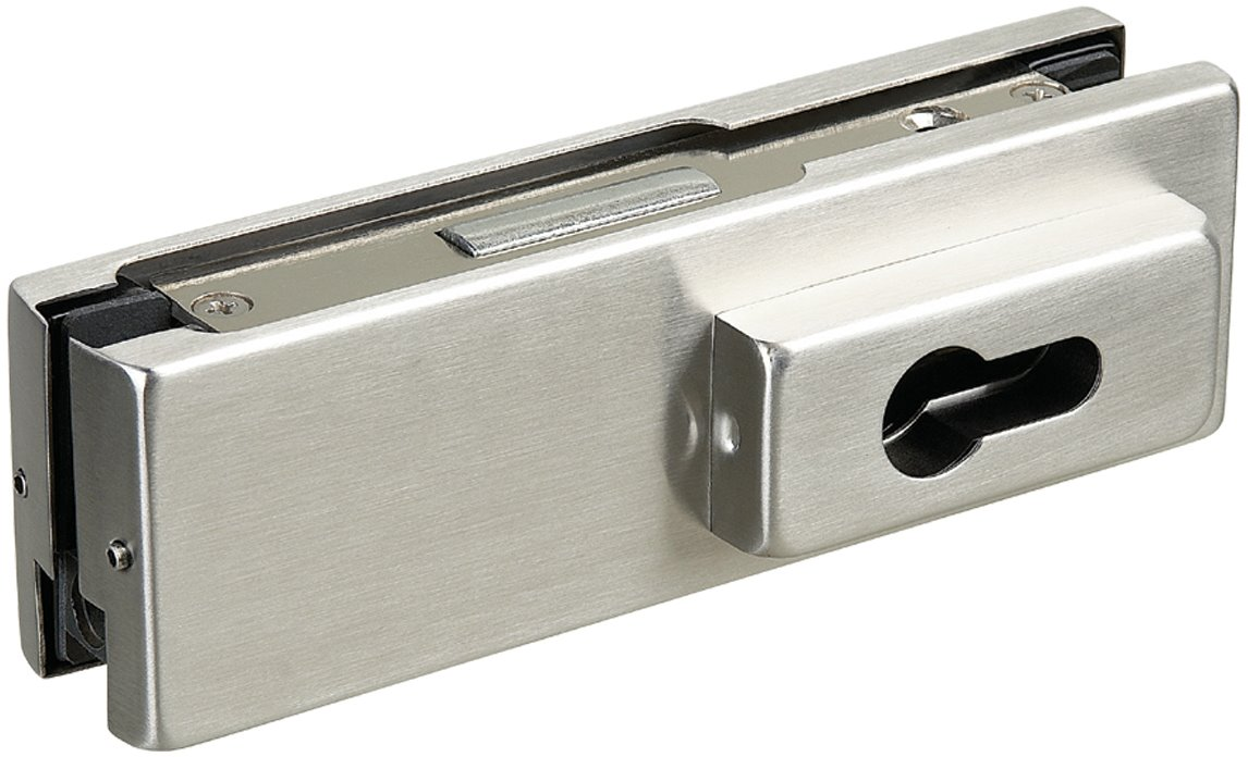L010 - Glass Door Corner Patch Lock suits Euro Profile Cylinder