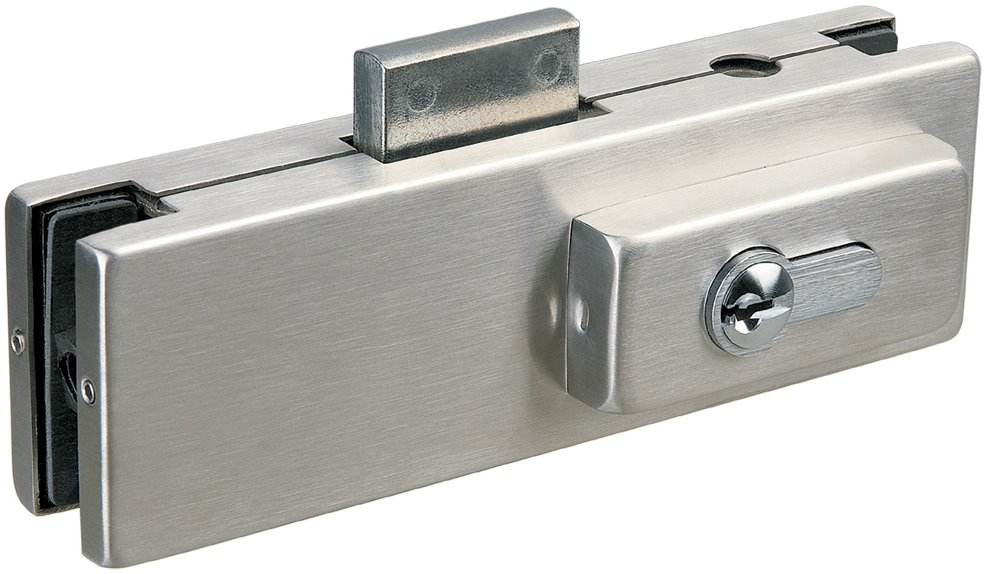 L020 - Glass Door Centre Patch Lock suits Euro Profile Cylinder
