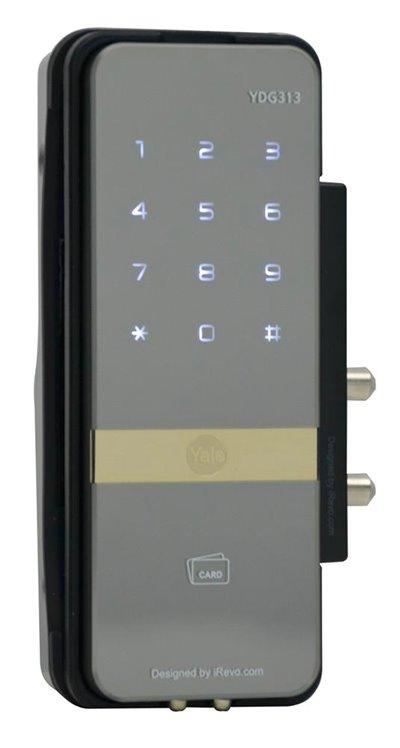 YDG 313 - PIN Code, RF Card Key & Remote Control (Optional) (Rim Lock for Glass Doors)
