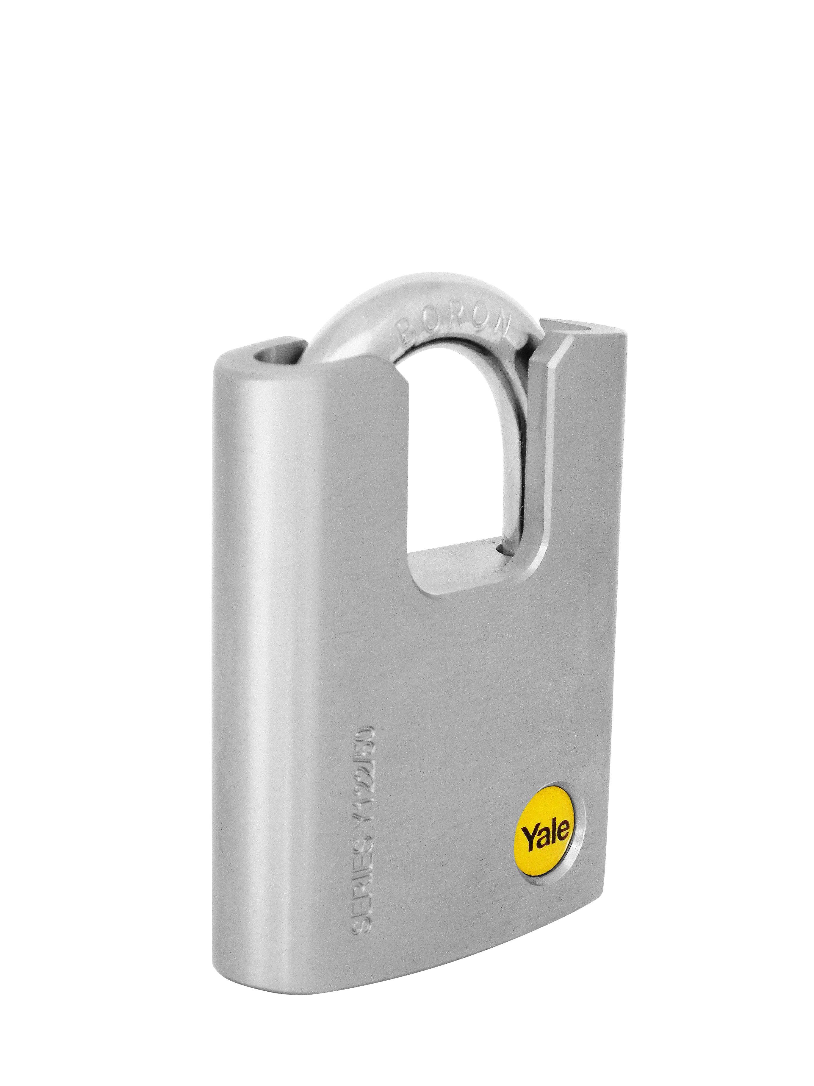 Y122/50/123/1 - Cadenas en laiton chromé 50 mm à ance protégée