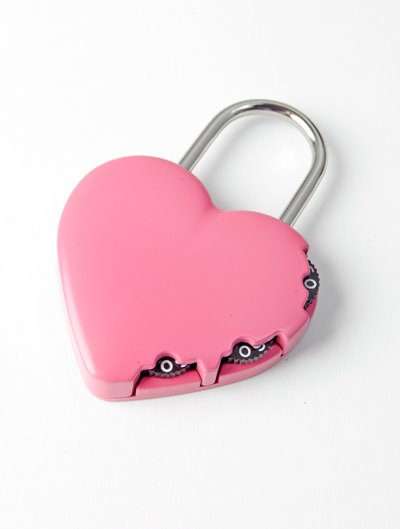 Y-Heart-Pnk - Combination Padlock