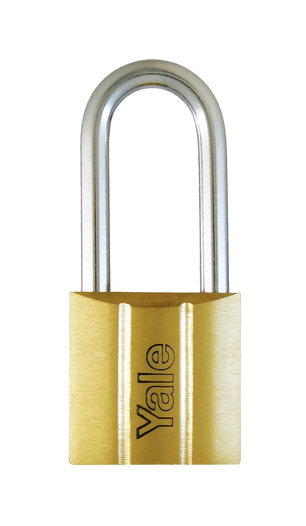 Y140/25LS - Yale 140 Series Long Shackle Brass Padlock 25mm