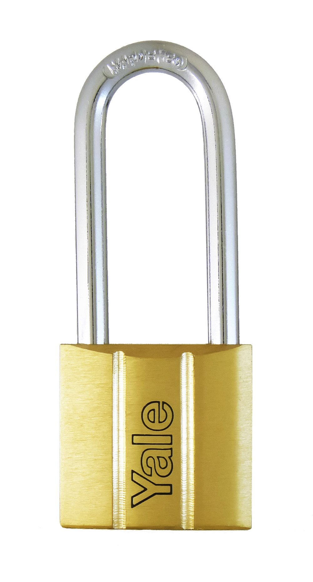 Y140/30LS - Yale 140 Series Long Shackle Brass Padlock 30mm