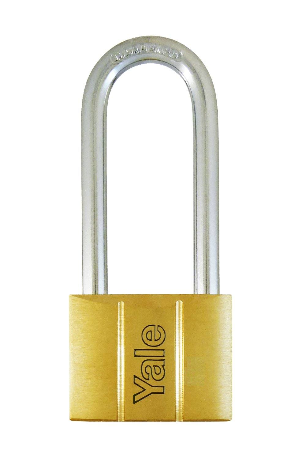 Y140/50LS - Yale 140 Series Long Shackle Brass Padlock 50mm