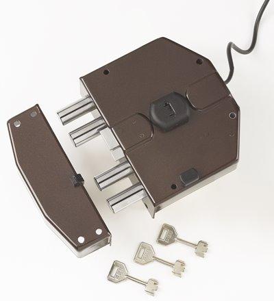6820 - Security electric rim lock, 1 locking point