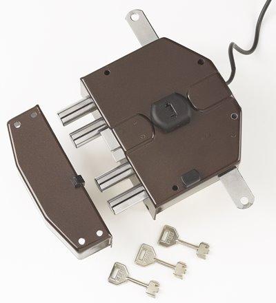 6823 - Security electric rim lock, 3 locking points