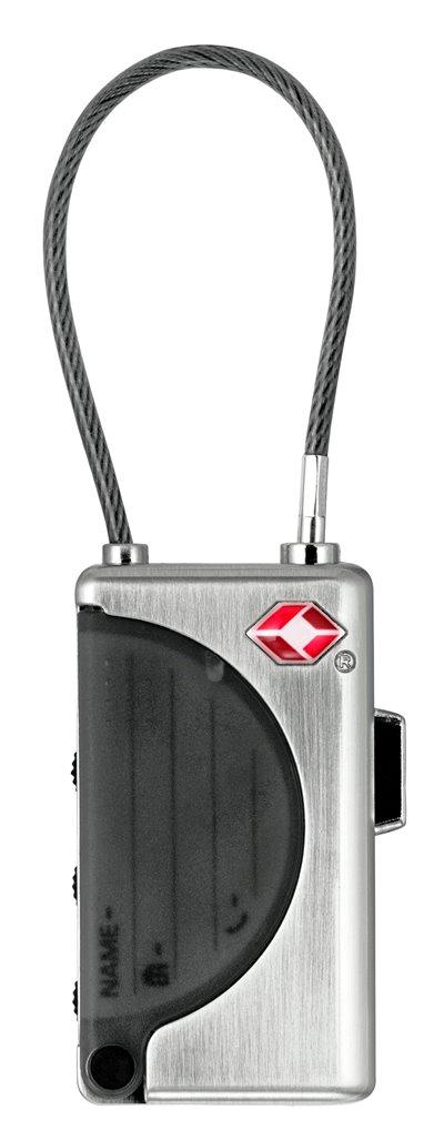 YTI1 - Terasest kaabli- ja ID sedeliga kohvrilukk
