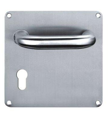 U-design lever on square plate