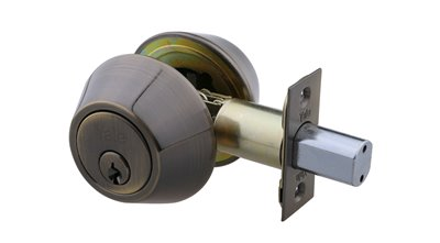 Double Cylinder Deadbolt - Antique Brass