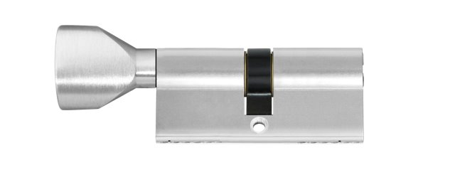 Euro profile cylinder with knob