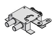 Deviatore doppio a leva con alette di fissaggio autobloccante