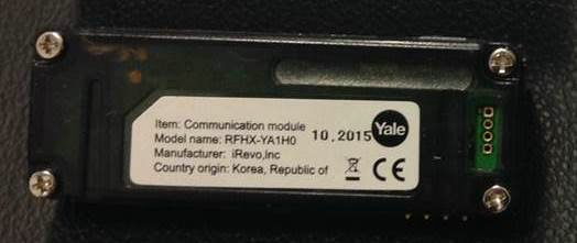 Yale Dijital Monoblok için Anahtarlık Tipi Kumanda Modülü