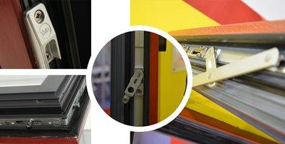 铝木复合内平开下悬窗五金系统