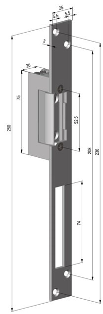 Electromagneti de toc standard, latime 20mm