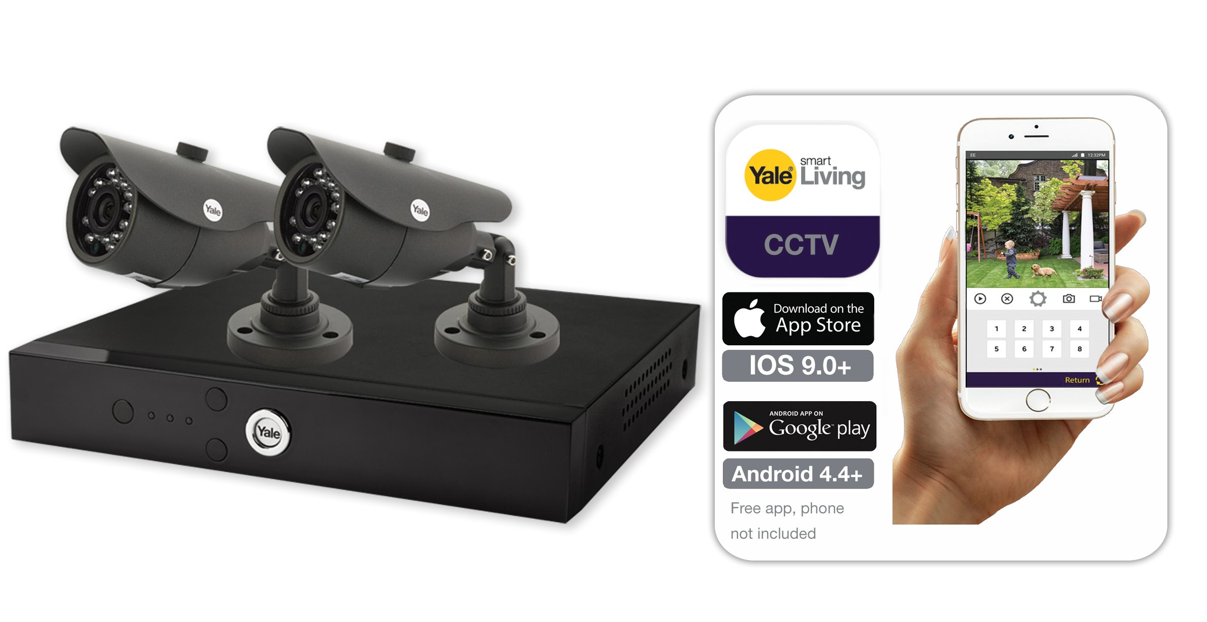 Smart HD 1080P 2Cam 1TB CCTV System