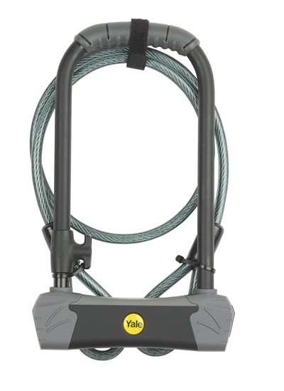 U-Shaped Bike Lock with Cable
