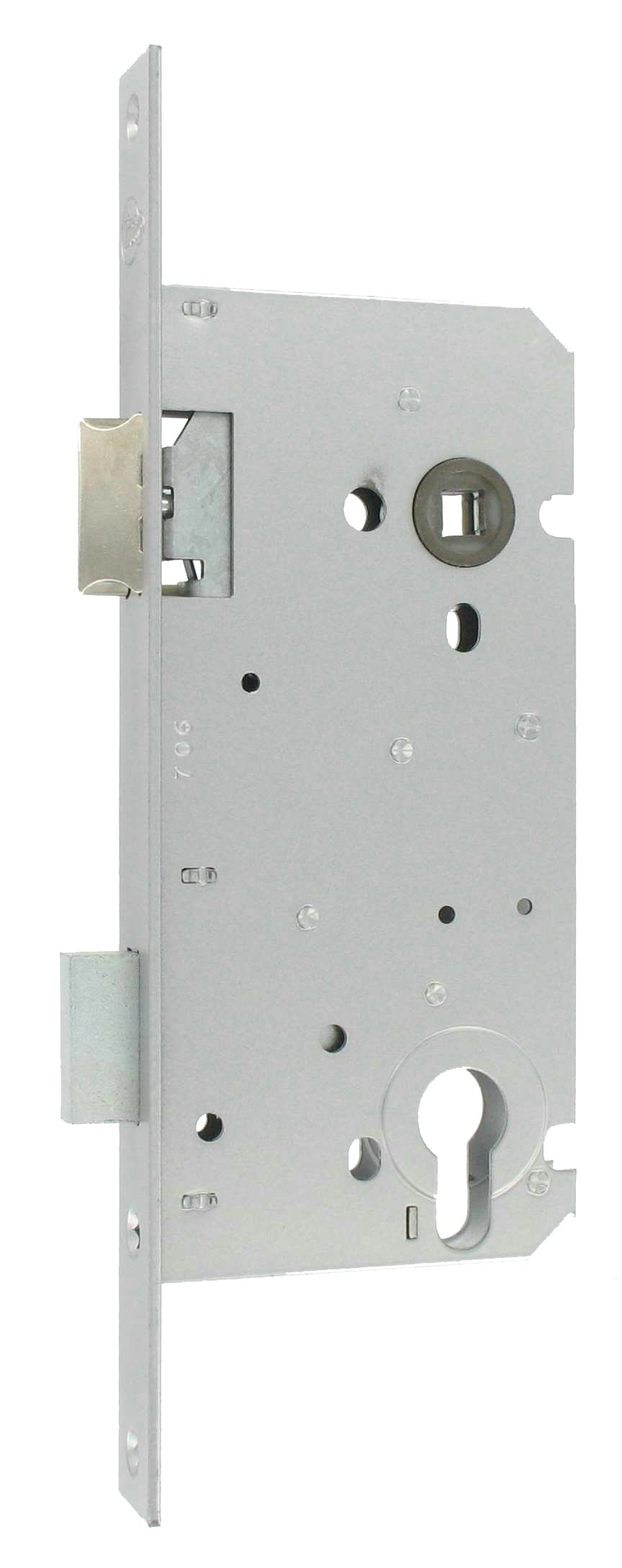 Double mortice lock without cylinder