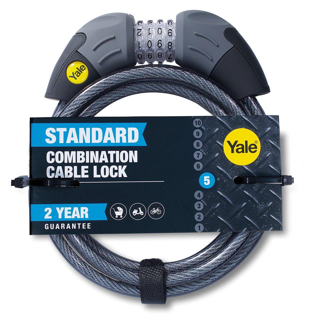 YCC1/10- Antifurt bicicletă cu cifru și cablu Yale