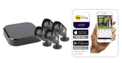 Smart HD 1080P 8-channel 4 camera CCTV kit