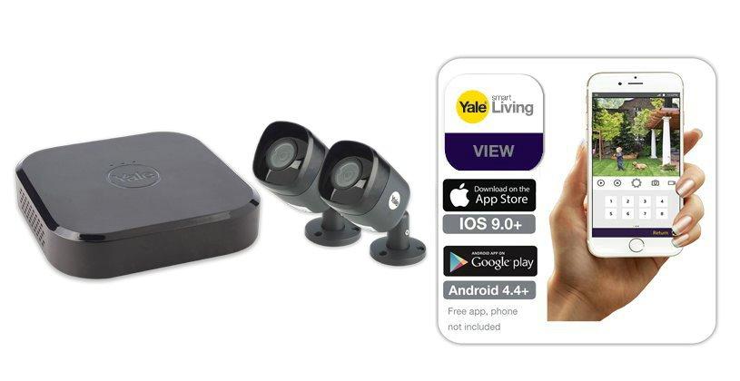 Smart HD 1080P 4-channel 2 camera CCTV kit - Smart CCTV