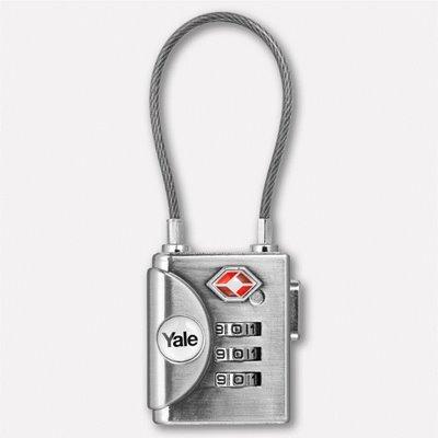 Yale Kablolu Şifreli Asma Kilit (TSA Onaylı)