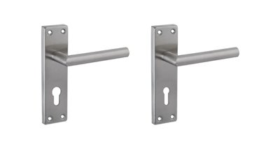 Stainless steel handles on 150mm back plate